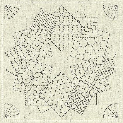Sashiko Cloth - Kaza-Guruma1 -KF2020-11