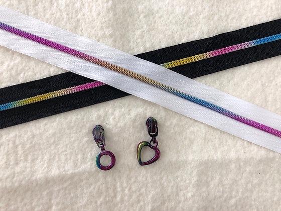 Rainbow zipper tape and pulls #3