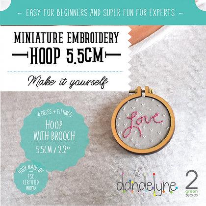 Dandelyne 5.5cm Hoop with Brooch DL0008