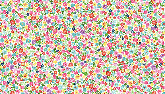 Daydream by Makower UK - M2280 White Floral