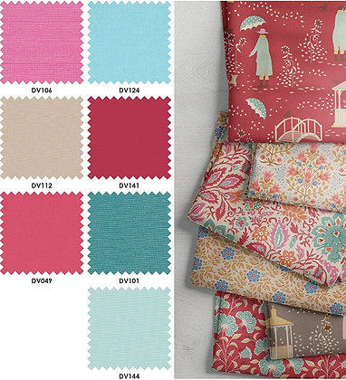 Devonstone Collection - Windy Days Half Metre Bundle - Colourway Red