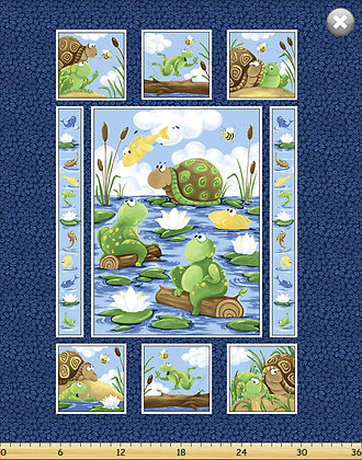 Paul and Sheldon Panel by Susybee Fabrics SB2020-780