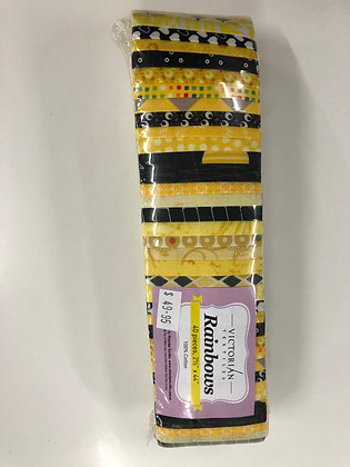 Rainbow Jelly Roll - Yellow and Black
