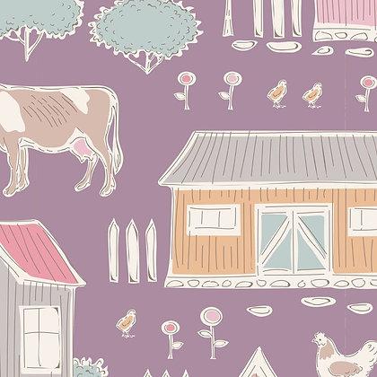 Tilda Tiny Farm - Tiny Farm Mauve 10022