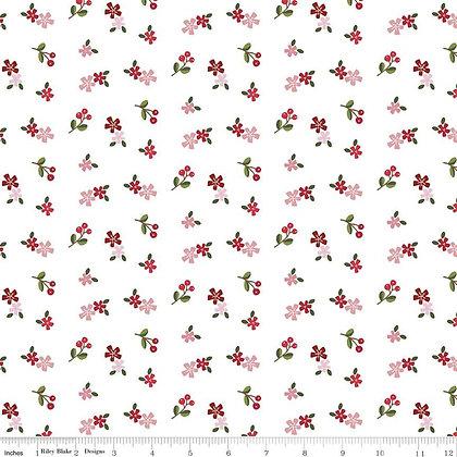 Riley Blake Designs - Holly Holiday - C10884.White