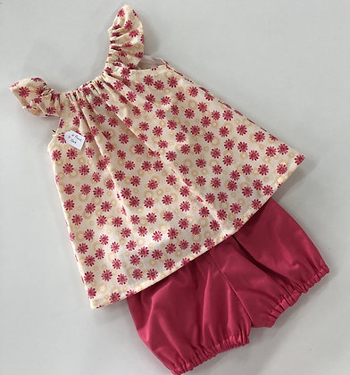 Sophie Flutter Sleeve and Bubble shorts set