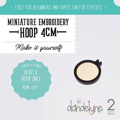 Dandelyne 4cm Acrylic Hoop Black DL0202