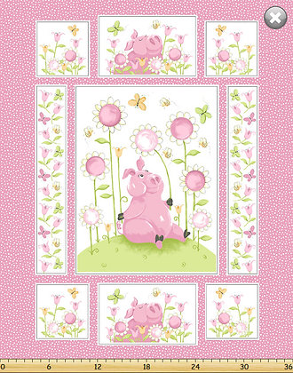 Flip the Pig Panel by Susybee Fabrics SB20174-520