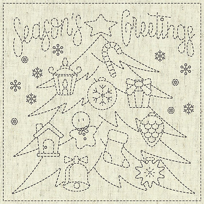 Sashiko Cloth - Seasons Greetings -KF2020-16