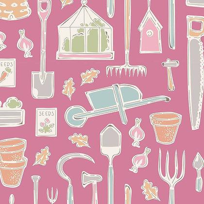 Tilda Tiny Farm - Farm Tools Pink 10017