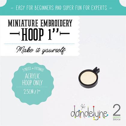 """Dandelyne 1"""" Acrylic Hoop Black DL0102"""