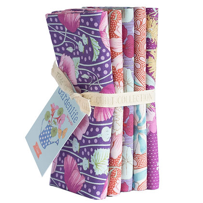 Tilda Gardenlife Collection - Half Metre Bundle Lilac /Coral