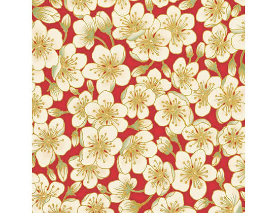 Summer Palace Blossom Red/Ivory 0023-1