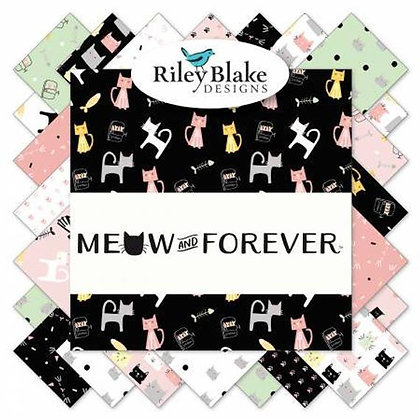"Meow and Forever by Riley Black 5"" Stacker"