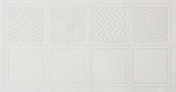 Hidamari Sashiko Cotton Pre Printed Panel LC98903