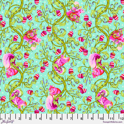 Tula Pink - Tiny Beasts - Oh Nuts! PWTP179.Glimmer