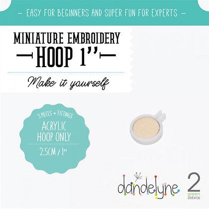 "Dandelyne 1"" Acrylic Hoop White DL0101"