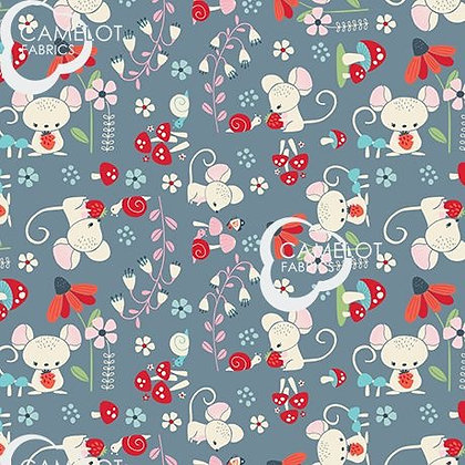 Enchanted Forest Whimsical Creatures by Camelot Fabrics - 61190301-02