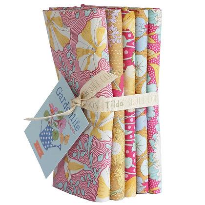 Tilda Gardenlife Collection - Half Metre Bundle Mustard / Pink