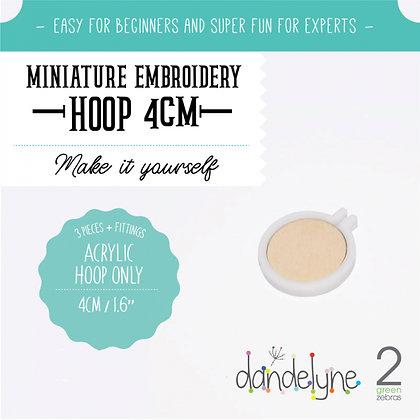 Dandelyne 4cm Acrylic Hoop White DL0201