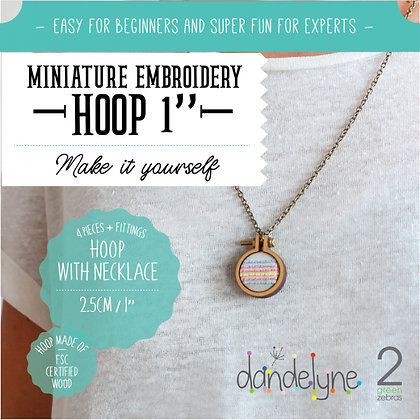 "Dandelyne 1"" Hoop with Necklace DL0003"