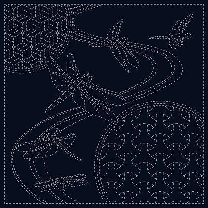 Sashiko Cloth - Dragonfly SC0017-02-Navy
