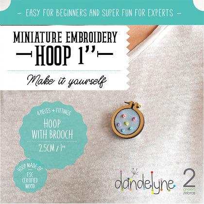 """Dandelyne 1"""" Hoop with Brooch DL0002"""