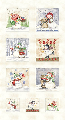Snowman Meadows Panel by PB Textiles 840-PA