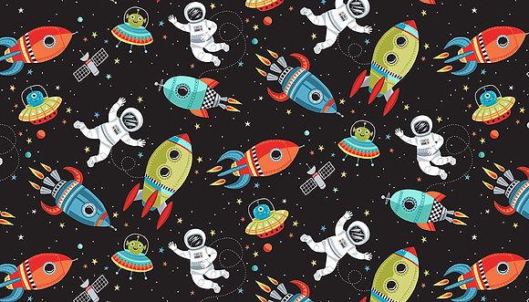 Outer Space by Makower Uk - M2267B Scene