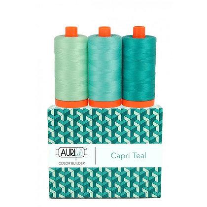 Aurifil Thread - Colour Builder - Capri Teal