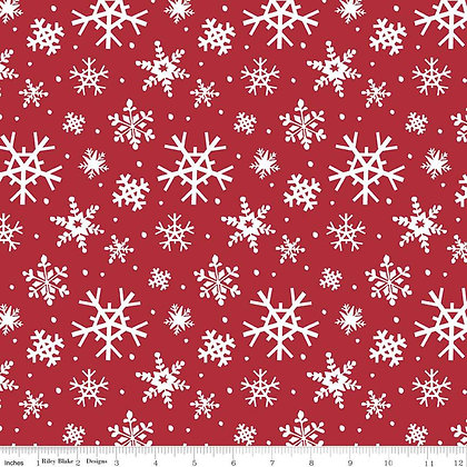 Riley Blake Designs - Holly Holiday - C10882.Red
