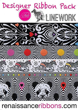 Tula Pink - Hardware - Linework Renaissance Ribbons Pack