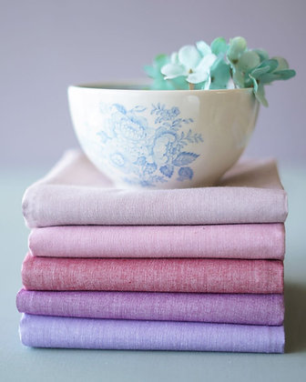 Tilda Chambray Blush-Lavender Fat Quarter Bundle