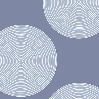 Tilda Luna Backing Fabric - Blue 150002