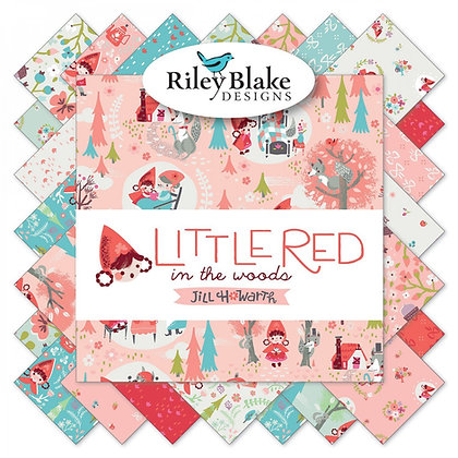 "Riley Blake Little Red Woods 10"" Stacker"