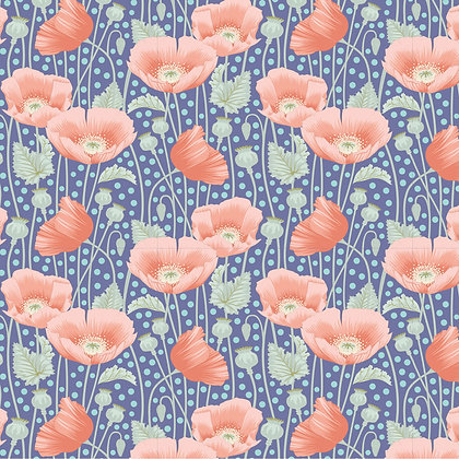 Tilda Gardenlife Collection -100319 Poppies Blue