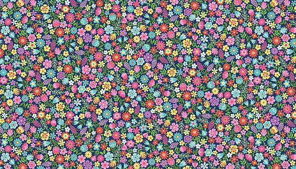 Daydream by Makower UK - M2280 Black Floral
