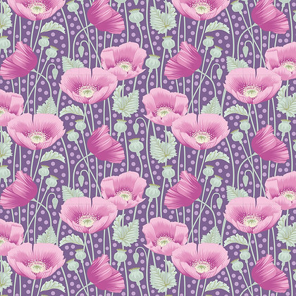Tilda Gardenlife Collection -100306 Poppies Lilac