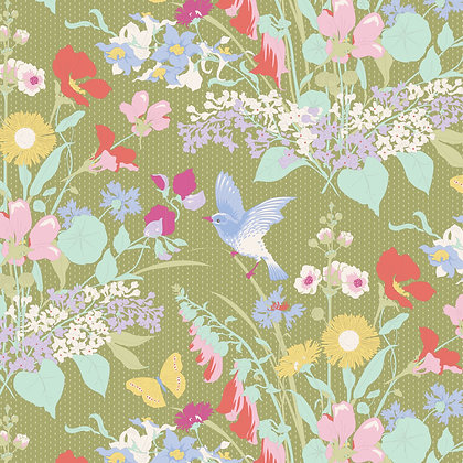 Tilda Gardenlife Collection -100315 Gardenlife Green