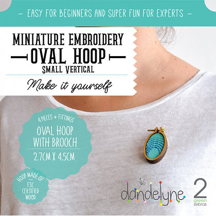 Dandelyne Small Oval Vertical Hoop with Brooch DL0020