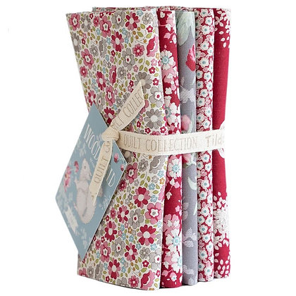 Tilda Woodland Red-Grey Half Metre Bundle