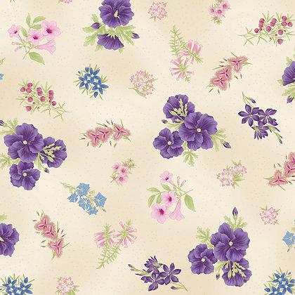Under Australian Sun Floral Purple Ivory 0017-19