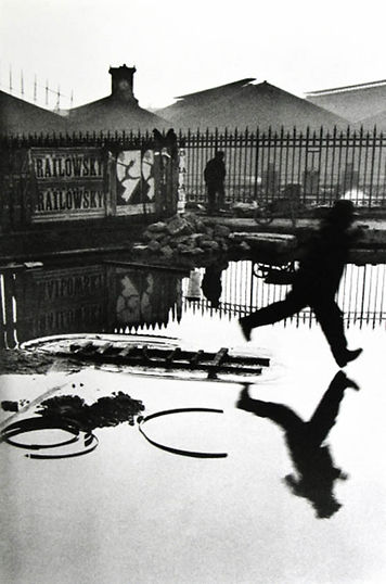 Photo by Henri Cartier Bresson, Behing the Gare Saint-Lazare, Paris, 1932