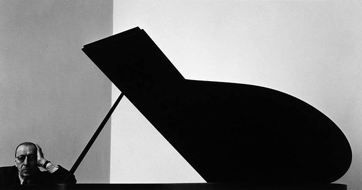 Arnold Newman, photo of Igor Stravinsky, NewYork City, 1946