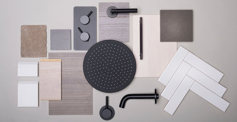 Interior design materials and finishes for bathroom