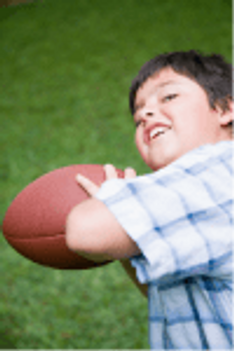 small boy football