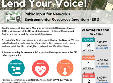 Help Shape Newark's Environmental Resources Inventory