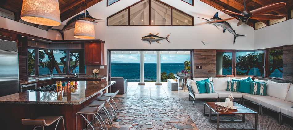 Gourmet Kitchen and Lving Area