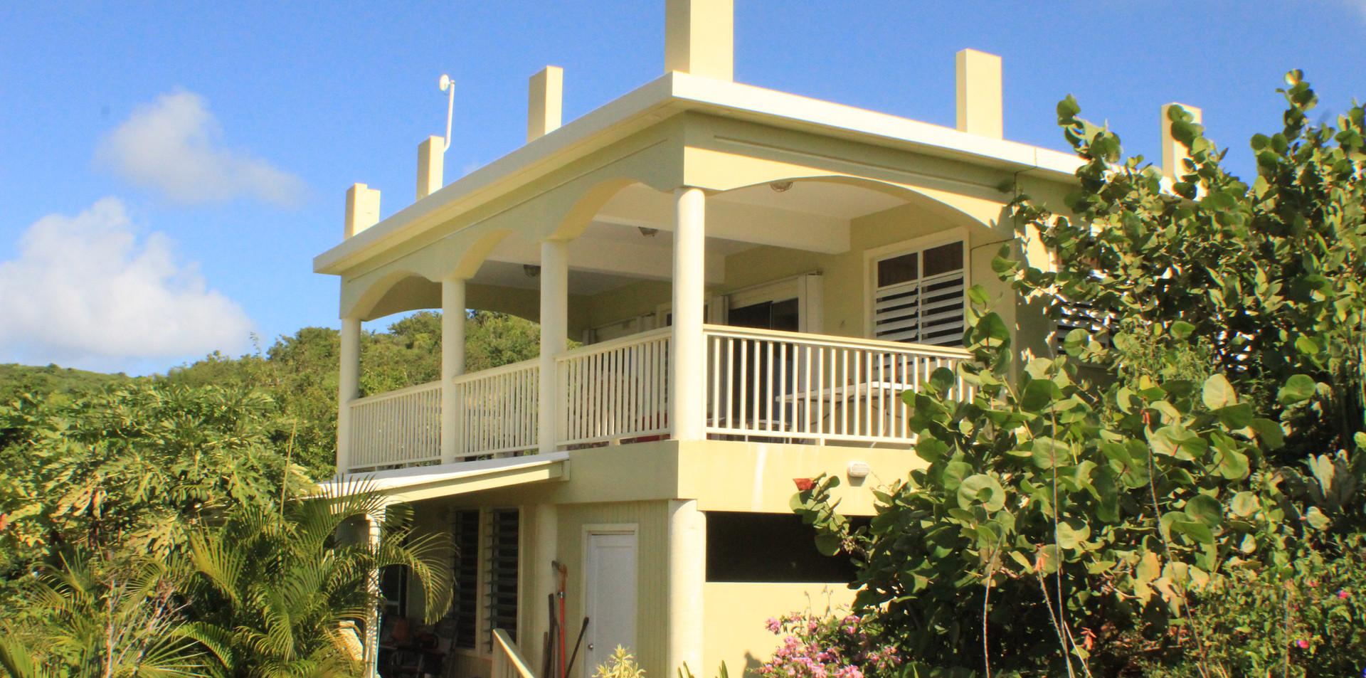 Upper Patio and Lower Studio Porch