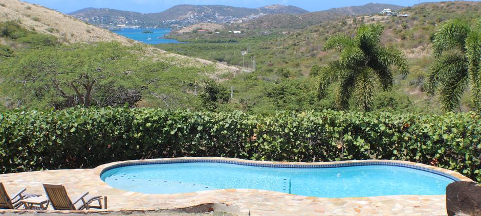 Pool and view to Ensenada Harbor